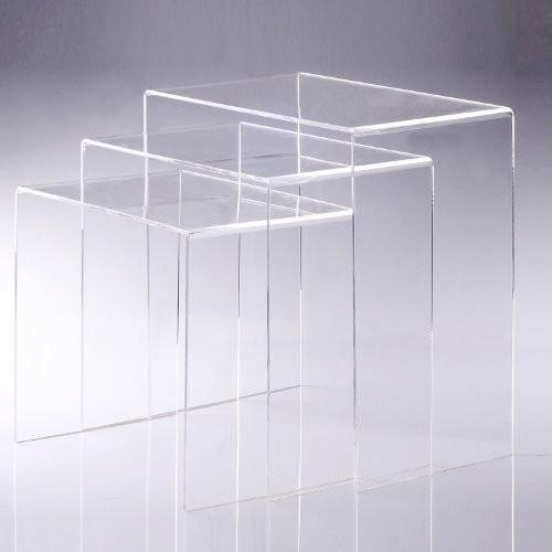 3er-Set-Beistelltisch-Acryltisch-Couchtisch-Wohnzimmertisch-Gebogener-Tisch-transparent-Neu-0