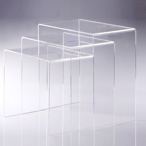 Homcom 02 0184 3er Set Beistelltisch Acryltisch Couchtisch Wohnzimmertisch Gebogener Tisch Neu Transparent
