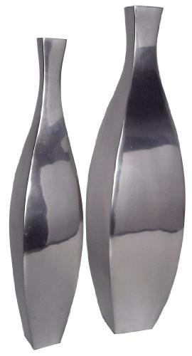 aluminium vasen handpoliert 37 hoch dekoration deko. Black Bedroom Furniture Sets. Home Design Ideas