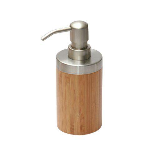 axentia seifenspender bonja aus edelstahl bambus spender f r fl ssigseife seifendispenser. Black Bedroom Furniture Sets. Home Design Ideas