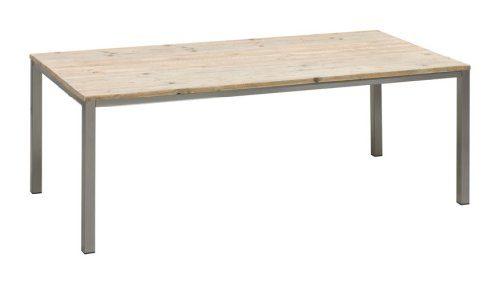 Bony-Design-Esstisch-Edelstahl-mit-Bauholz-78-×-210-×-100-0