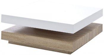 Couchtisch-Hugo-Bodenplatte-Eiche-sägerau-obere-Hochglanz-weiß-lackiert-obere-Platte-drehbar-Maße-in-BHT-ca.-75x75x30-cm-0