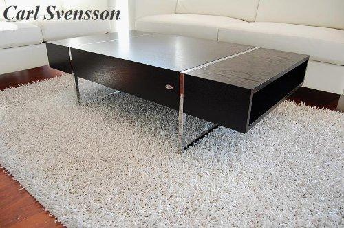 Design couchtisch tisch n 111 schwarz chrom carl svensson for Design tisch schwarz