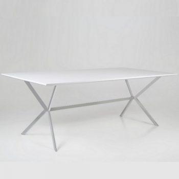 Esstisch-CROSS-weiß-Hochglanz-Stahlbeine-220cm-0