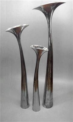 exklusive design bodenvase vase aus aluminium 75cm hoch alu lilie blumenvase online kaufen bei. Black Bedroom Furniture Sets. Home Design Ideas