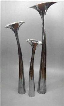 Exklusive-Design-Bodenvase-Vase-aus-Aluminium-92cm-hoch-Alu-Lilie-Blumenvase-0