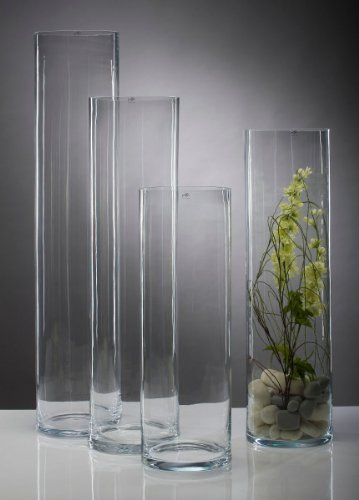 glass vase flower vase glass floor vase cylinder big 75cm. Black Bedroom Furniture Sets. Home Design Ideas