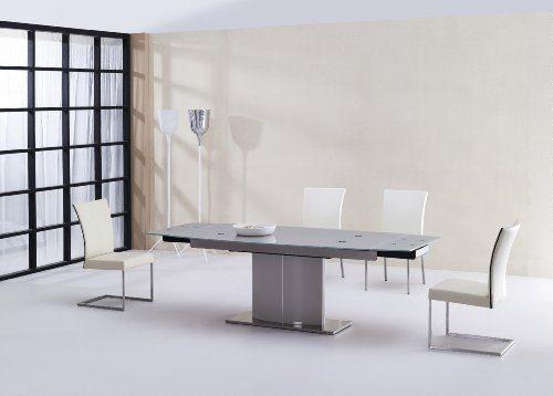Miraseo-MYH1112518-Celeste-Esstisch-eleganter-hochwertiger-Esszimmer-Tisch-Küchentisch-aus-Sicherheitsglasrostfreier-Stahl-in-Farbe-Klar-edles-Design-und-hoher-Komfort-mit-den-Maßen-180240x75x95-cm-0