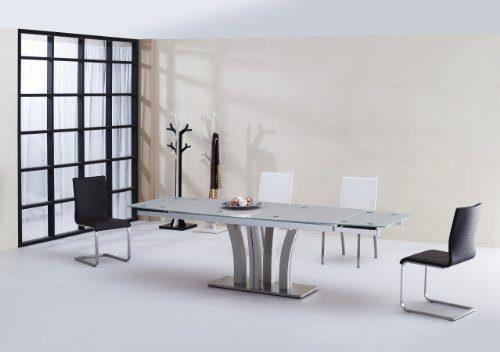 Miraseo-MYH1212218-Cecilio-Esstisch-eleganter-hochwertiger-Esszimmer-Tisch-Küchentisch-aus-Sicherheitsglasrostfreier-Stahl-in-Farbe-Klar-edles-Design-und-hoher-Komfort-mit-den-Maßen-180290x95x75-cm-0