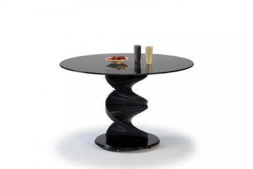 Miraseo-MYHHET28RG-Twister-Esstisch-eleganter-hochwertiger-Esszimmer-Tisch-Küchentisch-aus-Rauchglas-edles-Design-und-hoher-Komfort-mit-den-Maßen-Durchmesser-120cm-Höhe-76-cm-0