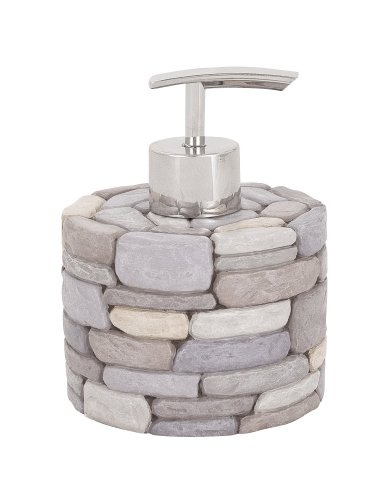 Wenko Castello 19466100 Soap Dispenser Poly Resin online kaufen ... | {Seifenspender stein 45}