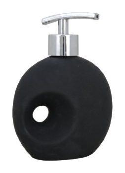 Wenko-19559100-Seifenspender-Hole-Soft-Touch-Keramik-11.5-x-16-x-6.5-cm-schwarz-0
