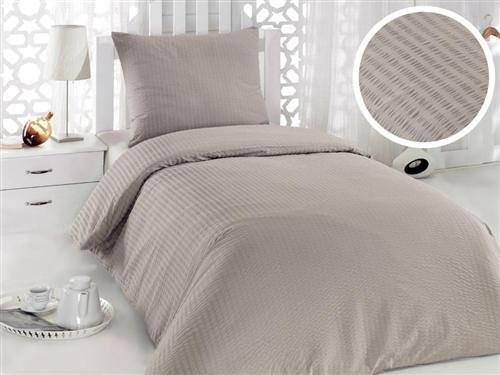 2 Tlg Seersucker Bettwäsche Set Bettdeckenbezug 135x200 Cm Mit