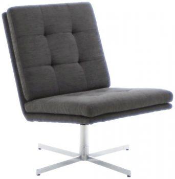 AC-Design-Furniture-44033-Sessel-Nils-Bezug-Strukturstoff-anthrazit-Gestell-Metall-verchromt-0