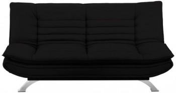 AC-Design-Furniture-47397-Schlafsofa-Jasper-Kunstleder-schwarz-Füße-Metall-verchromt-Liegefläche-ca.-196-x-123-cm-0