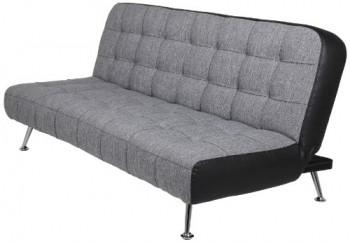 AC-Design-Furniture-50131-Schlafsofa-Joost-Bezug-Stoff-dunkelgrau-Seiten-Kunstleder-schwarz-Liegefläche-ca.-192-x-116-192-x-86-x-90-cm-0