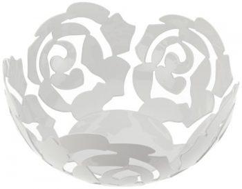 Alessi-ESI1521-W-LA-ROSA-Obstschale-aus-Edelstahl-epoxidharzlackiert-Platinum-White-0