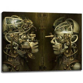 Android-Abstrakt-Motiv-auf-Leinwand-im-Format-100x70-cm.-Hochwertiger-Kunstdruck-als-Wandbild.-Billiger-als-ein-Ölbild-ACHTUNG-KEIN-Poster-oder-Plakat-0