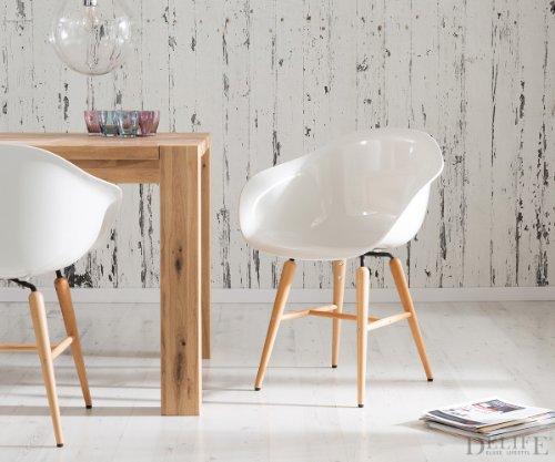 armlehnstuhl forum wood white holzbeine buche esszimmerstuhl weiss online kaufen bei woonio. Black Bedroom Furniture Sets. Home Design Ideas