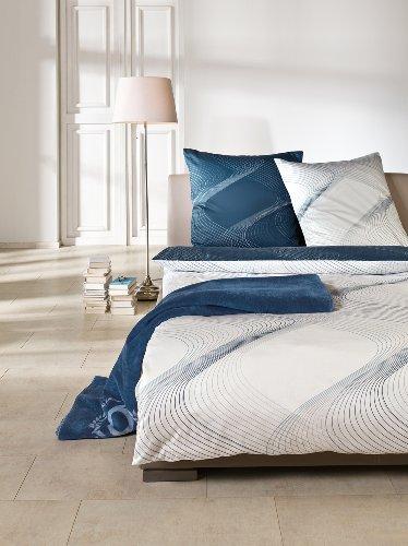 bettw sche satinbettw sche bugatti wei petrol 155 220 online kaufen bei woonio. Black Bedroom Furniture Sets. Home Design Ideas
