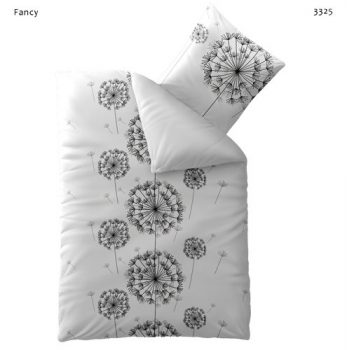 Bettwäsche-155x220-Baumwolle-mit-Reißverschluss-Fashion-Fancy-weiß-schwarz-Wende-0