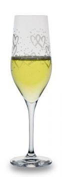 Bohemia-Cristal-093-006-063-Champagnerkelche-260-ml-heart-satin-Champagne-2-er-Set-0