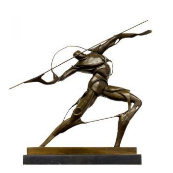 Bronzefigur-im-Stil-des-Futurismus-Kämpfer-mit-Speer-sign.-Umberto-Boccioni-0