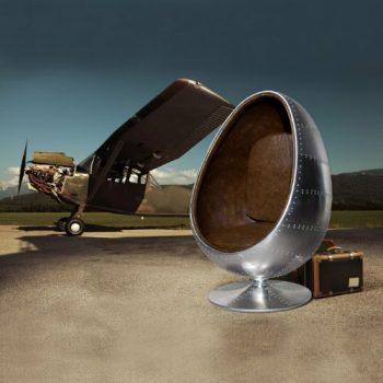 CAGÜ-RETRO-LOUNGE-DESIGNER-SESSEL-SITZEI-EGG-BALL-SILBER-BRAUN-DREHBAR-SPACE-AGE-NEU-0