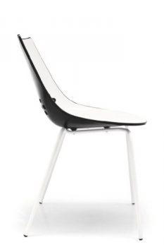 Calligaris-Stuhl-Jam-CS1059-in-weißschwarz-glänzend-0