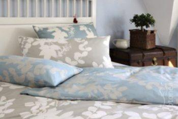 Cotonea-Satin-Bettbezug-Evergreen-nachtblau-natur-155x220cm-reine-Bio-Baumwolle-0