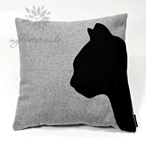 Dekokissen-Sofakissen-cathead-grau-40-x-40-cm-Kissenbezug-inkl.-Füllkissen-Katzenkissen-Katzenmotiv-Zierkissen-Schmusekissen-0