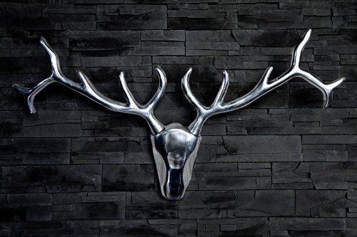 Designer-Geweih-Shine-Deko-Hirsch-aus-poliertem-Aluminium-Höhe-45-cm-Breite-90-cm-Wandfigur-Geweih-Wandgeweih-0