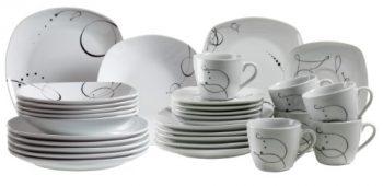 Domestic-®-by-Mäser-Serie-Chanson-Kombiservice-30-teilig-mit-je-6-Tassen-Untertassen-Desserteller-Teller-tief-und-Teller-flach-mit-besondere-Form-und-fantasievollem-Design-0