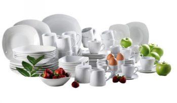 Domestic-®-by-Mäser-Serie-Hannah-Starterset-Kombiservice-63-teilig-ideale-Komplettlösung-aus-weißem-Porzellan-0