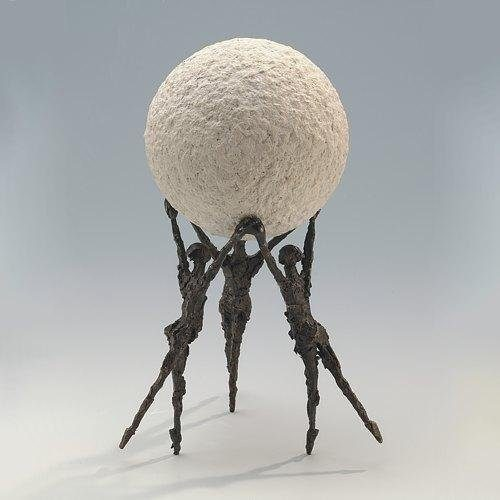 Gemeinsam-sind-wir-stark-Kött-Gärtner-Luise-Bronze-Skulptur-0