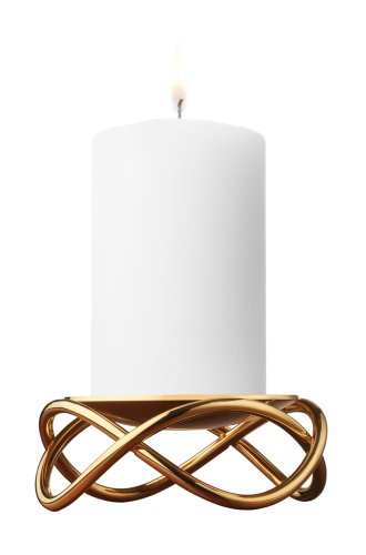 georg jensen glow kerzenst nder gold 10 5 cm online. Black Bedroom Furniture Sets. Home Design Ideas