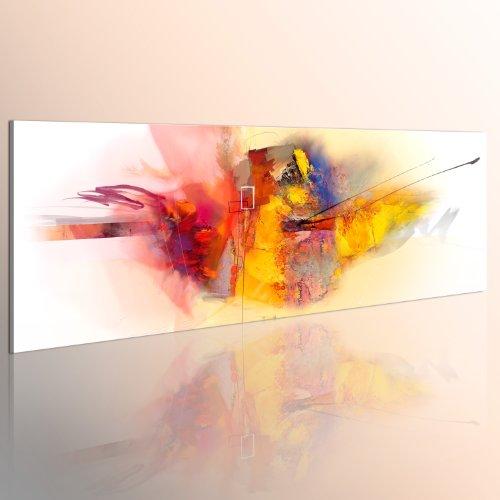 Abstrakte Bilder Auf Leinwand murando handbemalte bilder auf leinwand abstrakt 120x40 cm 1