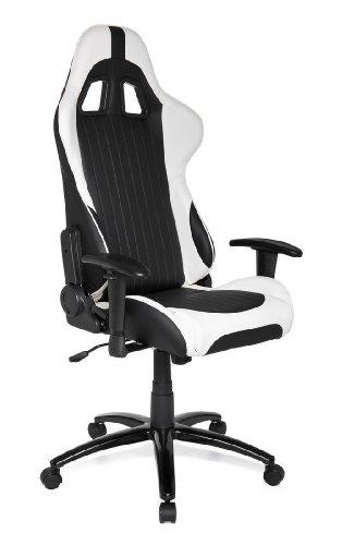 hjh office gaming stuhl b rostuhl sportsitz kunstleder monaco schwarz wei online kaufen bei. Black Bedroom Furniture Sets. Home Design Ideas