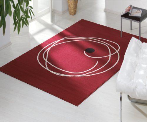 design velours teppich smith rot 100822 gr e 160 x 230. Black Bedroom Furniture Sets. Home Design Ideas