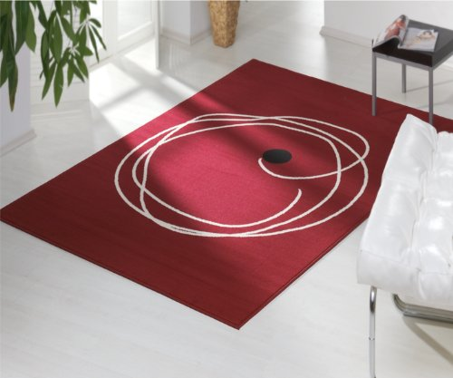 design velours teppich smith rot 100822 gr e 160 x 230 cm online kaufen bei woonio. Black Bedroom Furniture Sets. Home Design Ideas