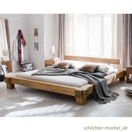 holzbett victoria kernbuche massiv 180 x 200 cm online kaufen bei woonio. Black Bedroom Furniture Sets. Home Design Ideas