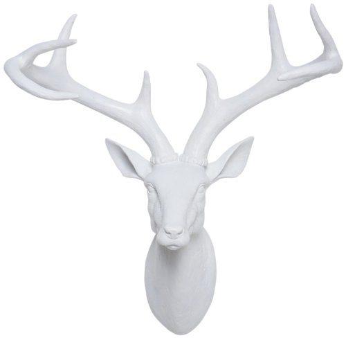 Kare-31066-Deko-Kopf-Deer-White-0