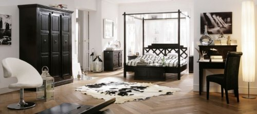 kare design cabana himmelbett aus pappelholz l 210 x b. Black Bedroom Furniture Sets. Home Design Ideas
