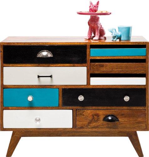 kare design kommode malibu beach eu pappelholz mit 9 schubladen online kaufen bei woonio. Black Bedroom Furniture Sets. Home Design Ideas