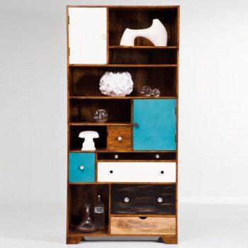 Kare-Design-Regal-Malibu-EU-Pappelholz-mit-Schubladen-und-Fächern-0