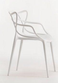 Kartell-Stuhl-Masters-weiß-Philippe-Starck-mit-Eugeni-Quitllet-Polyethylen-durchgefärbt-Esszimmerstuhl-Küchenstuhl-Speisezimmerstuhl-0