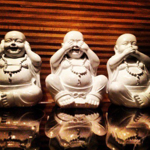 lucky buddha set 3 figuren 1 preis nichts - Buddha Deko Wohnzimmer