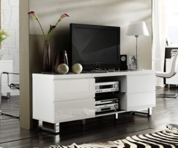 kendrick media lowboard tv weiss eiche online kaufen bei woonio. Black Bedroom Furniture Sets. Home Design Ideas