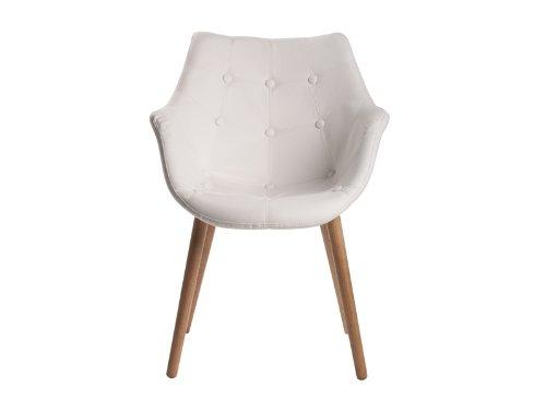 Stühle weiß kunstleder  Lyon Stuhl Kunstleder Weiß 2er-Set online kaufen bei WOONIO