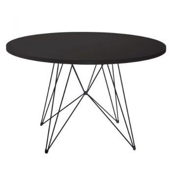 Magis-Tavolo-XZ3-rund-D-120cm-Gestell-schwarz-Platte-schwarz-TV184-TV186-xz-3-0